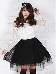 Skirt Classic/Traditional Lolita Princess Cosplay Lolita Dress Print Medium Length Skirt For Polyester