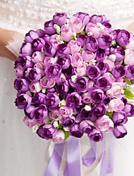 mariée en soie élégant bouquet de forme ronde