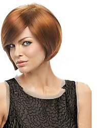Capless Short Blonde Synthetic Side Bang Wigs4 Colors Available