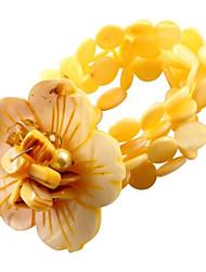 pulsera de flores shell