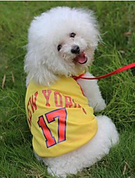 New Jersey No.17 Mesh Vest  for Pet Dogs(Assorted Size,Assorted Color)