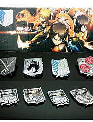 Attack on Titan  The Four Part Brooch  Cosplay Accessory