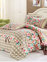 Ouka 100% Cotton Floral Print 4 PCS Set Bedding SJT016