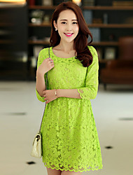 Women's Dresses , Lace Casual/Work Mailljor