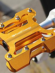 CoolChange Aluminiumlegierung-Anti-Rutsch-Gold Mountain Bike Pedal