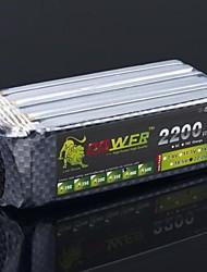 Leeuw 22.2V 6S 2200mAh 40C Lipo Battery Power voor RC Helicopter Vliegtuig Model (T Plug)