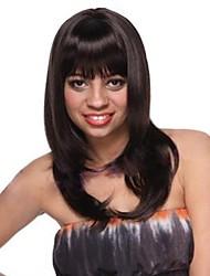 Fashion Hair schwarze lange glatte Haare Perücke