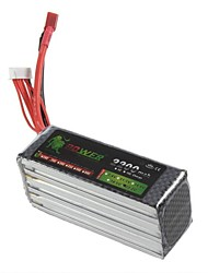 Leeuw 22.2V 6S 2200mAh 25C Lipo Battery Power voor RC Helicopter Vliegtuig Model (T Plug)