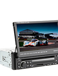 7 pulgadas TFT 1Din pantalla en el tablero de coches reproductor de DVD con GPS, BT, RDS, iPod, Touch Screen