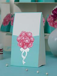 thème floral d'endroit de mariage cartes - jeu de 10