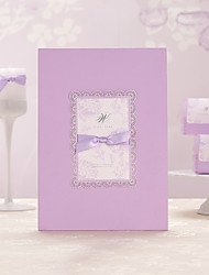 Romantic Lilac Guest Book with Bow (5 Pages) Sign In Book
