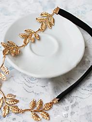 Wedding Bridal Pearl Leaf Flower Crystal Hair Ties