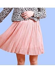 Mulheres Charme Simples Chiffon saia bonito (mais cores)