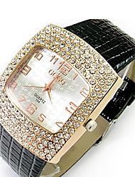 Yulan Diamante Orologi imitazione pelle di coccodrillo Belt Watch