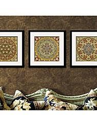 Parfait Totem abstrait impression sur toile encadrée Lot de 3