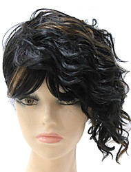 Capless Synthetic Mixed Color Short Curly Synthetic Hair Wig
