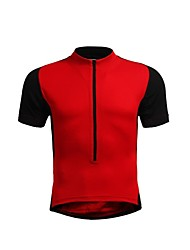 JAGGAD Cycling Tops / Jerseys Women's / Men's / Unisex Bike Breathable / Quick Dry Short Sleeve Polyester / Elastane Patchwork RedS / M /