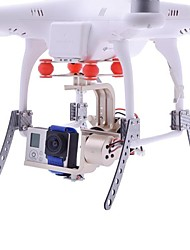 HJ 2-Axis Gopro 1/2/3 Brushless Gimbal PTZ w/BGC3.1 2-Axis Controller for Multicopter FPV in Gold