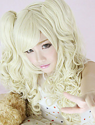 Harajuku  Style Cosplay Synthetic Wig Lolita Bunches  wavy Wig  Light golden