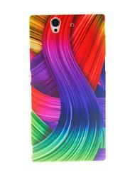 Boîtier en plastique dur de modèle de ruban de couleur Kinston pour Sony L36h (Xperia Z)