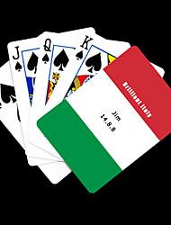Gepersonaliseerde Gift Vlag van Italië Patroon Playing Card