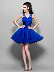 A-line Sweetheart Short/Mini Tulle Cocktail Dress