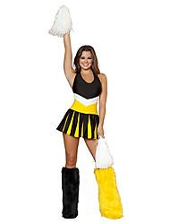 Wild Girl Yellow & Black Polyester 2014 Brazil World Cup Football Baby Cheerleader Uniform