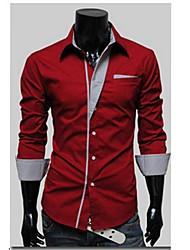 HIEND Men's Stripe Print Shirt