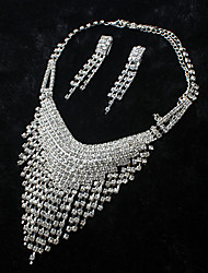 ME Vintage Luxury Austria Rhinestone Set Wedding Necklace And Earings Set T0022