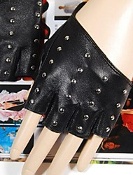 Women Faux Leather Gloves , Party