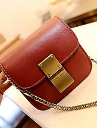 PU cuir rouge Sacs à bandoulière portables de Kuankuanxiu femmes