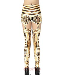 Elonbo Golden Egypt Characters Style Digital Painting Tight Women Clip Leggings