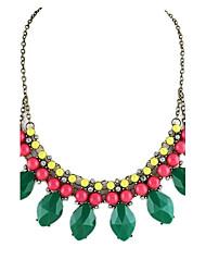 Estilo nuevo de la llegada diseño de lujo de la manera de la piedra preciosa Collar babero Collar llamativo