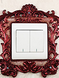Luxury Palace Style Brown Light Switch Stickers