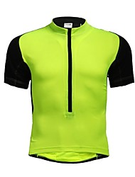 JAGGAD Cycling Tops / Jerseys Women's / Men's / Unisex Bike Breathable / Quick Dry Short Sleeve Polyester / Elastane Patchwork Light Green
