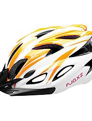fjqxz eps + laranja pc e branco integralmente moldado capacete ciclismo (18 saídas)