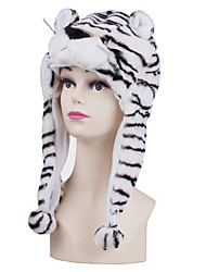 Unisexe Tigre blanc brouillé chaud Kigurumi Aminal Beanie