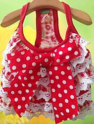 Hunde - Sommer - Baumwolle Rot - Kleider - XS / M / S / L