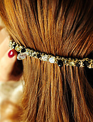 Authentic Korean four Rows of Crystal Hairpin