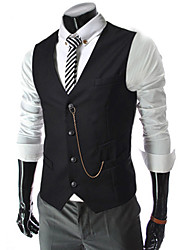 Men's Sleeveless Vest , Cotton Casual