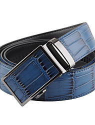 Uomo EVERGOLD Fashion Blu Split Leather Automatic Belt Buckle