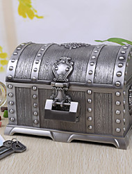 Vintage Silver Tutania Treasures Box/Jewelry Box with Lock