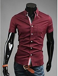 Men's Casual Pure Cotton Short Sleeve Shirt
