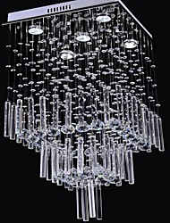 50W Crystal Chandelier with 5 Lights  in Square Shape