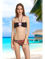 Desgaste de VBM Marca Para Mujer Biack cristalino de la vendimia Bandeau Bikinis Sexiest Beach Swimwear Natación Trajes de Biquini