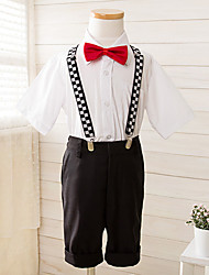 Polyester Ring Bearer Suit - 4 Pieces Includes  Shirt / Pants / Bow Tie / Suspenders