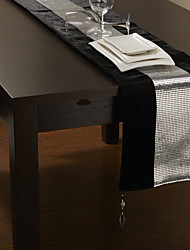 Silver Bead Design Table Runner