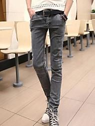 El empalme de los hombres del color sólido delgado Skinny Jeans