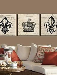 Stretched Canvas Art European Design Set of 3
