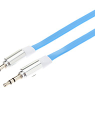 3.5mm macho a macho de conexión de audio Cable plano (azul, 1m)
